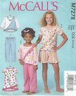 McCall's 7278 Tween Girls' Tops, Dress, Shorts and Pants Sewing Pattern