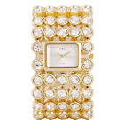 Luxury Lady Women's Silver Gold Bling Quartz Rhinestone Crystal Wrist Watch