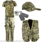 BOYS ARMY OUTFIT KIDS TROUSERS CAP T-SHIRT VEST MTP SOLDIER FANCY DRESS
