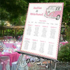 Personalised Wedding • Seating Plan • Table Plan-CAMPER VAN- 4 SIZES AVAILABLE
