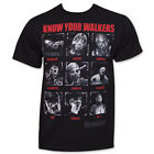 The Walking Dead Know Your Walkers T-shirt Zombie apocalypse Men's Shirts S-2XL