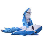 Animal Blue Shark Mascot Costume Party halloween Fancy Dress Kids Cosplay Childs