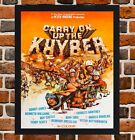 Framed Carry On Up The Khyber Sid James Film Poster A4 / A3 Size In Black Frame