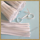 """4"""" Paper White Twist Ties for Bakery Candy Cello Bags"""