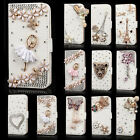 Bling Diamond Rhinestone Flip Wallet Leather Case Cover for iPhone 7 Plus