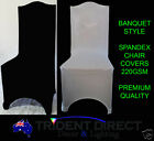 50x Spandex Chair Covers 220gsm Banquet Style Premium Quality