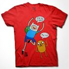Adventure Time I'm on a shirt T-shirt Finn Jake Cartoon Fan Men Shirt S-3XL