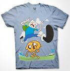 Adventure Time T-shirt Finn Jake Cartoon Fan Gift Men Shirt