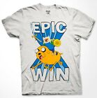 Adventure Time Epic Win T-shirt Finn Jake Cartoon Fan Gift Men Shirt S-3XL