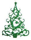 6 Embossed Rococo Christmas Tree Die Cuts, Ts. Many Colours & Cards