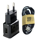 US/EU Plug Wall Charger Adapter+USB Data Sync Charging Cable for Samsung huawei