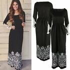 New Fashion Women Casual Long Sleeve Lace Party Evening Cocktail Long Maxi Dress