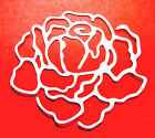 8 Rosy Rose Die Cuts, Mother's Day, Anniversary, Choose Colour & Card!