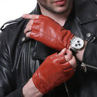 man's top goat leather fashion fingerless gloves half finger leather gloves
