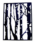 4 Birch Tree Frame/Background Die Cuts, Sizzix. Choose Colour & Card!