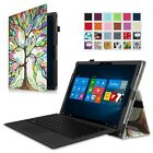 For Microsoft Surface Pro 4 12.3-Inch Folio Premium PU Leather Case Stand Cover