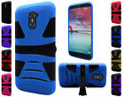 For ZTE Z MAX PRO ZMAX Pro Carry Z981 Hybrid U-Kickstand Cover Case