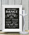 Personalised Dance floor rules Wedding Chalk Board print Style Vintage aa100