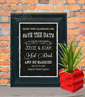 Save the Date Announcement Wedding  Sign Chalk Board print Style Vintage aa92