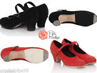 New Ladies Handmade Suede Leather Spanish Flamenco Dance Shoes Sizes 5, 6 & 7
