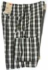 LEVI'S Mens New Cargo Shorts size 30 waist Black/White Relaxed Fit Below Knee