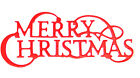 8 Traditional Merry Christmas Sentiment Die Cuts, Yc. Any Colour/Card
