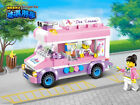 City Series ?ice cream truck  Mobile ice cream truck  fit lego in bag  213pcs