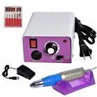 New PROFESSIONAL ELECTRIC NAIL FILE DRILL Tool Pedicure Machine kit Bits Set #1 for sale  Rowland Heights