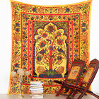 Indian Decor TEMPLE TREE Tapestry Wall Hanging Hippie Throw Queen Bedspread