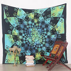 Indian Decor Ganesh OM Tapestry Wall Hanging Throw Bohemian Queen Bedspread