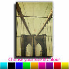 New York Vintage Brooklyn Bridge Single Canvas Wall Art Picture Print 31