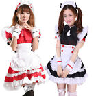 Sexy Girl Costume Maid Cosplay Dress Ruffle Lori Maid outfit Party Apron Aprons