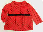 Carters 12 Months Red Fleece Coat Cardigan Baby Girl Clothes Holiday Christmas