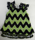 Bonnie Baby 12 Months Green Black Sleeveless Top Baby Girl Clothes