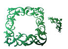 4 Embossed Ivy Deco Frame/Corner, Christmas, Die Cuts, Tonic Studios. Any Colour