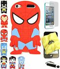 iPod Touch 5th 6th Generation 3D SUPERHERO SPIDERMAN BATMAN Soft Silicone Case