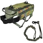 Dog TACTICAL VEST + LEASH Harness K9 Molle Hunting Training Military Army XS- XL