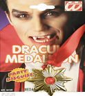 3PC Vampire Dracula Halloween Fancy Dress Wig Lace Jabot Medal Set