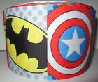 "GROSGRAIN AVENGERS CHARACTERS SUPERHERO 3"" INCH RIBBON FOR HAIR BOWS CRAFTS"