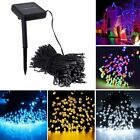 Solar Powered 100/200 LED String Fairy Lights Garden Outdoor Xmas Party Lamp