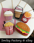 3D Creative Cute Food Style Synthetic Leather Tote Handbag Purse & Metal Strap