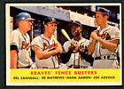 1958 Topps #351 Braves Fence Busters Mathews Aaaron VG-EX 95005