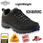 Black Hiking Trail Boots Shoes Slip resistant sneakers boot hiker light nt