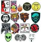 16 Random Patches Sew Embroidery Iron On Badge Clothes Fabric Applique