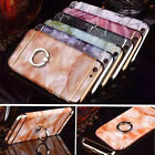Luxury 3 in 1 Jade Cover Fr iPhone 7 6 6s Plus Print Marble Ring Stand Back Case