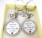 S.keyring SET- Best Godparents ever of ... Love you,godson,goddaughter gift,xmas
