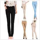 New Women ladies Full Length Casual Slim Skinny Fit  Pants Trousers  SIZE 6-14