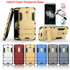 Hybrid Shockproof Protective Rubber Case+Tempered Glass Film For ZTE AXON 7 5.5""