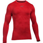 Under Armour Men's ColdGear Jacquard Crew Long Sleeve Shirt - Red/Graphite