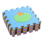 10pcs Soft EVA Foam Puzzle Jigsaw Mat Pad Floor Gym Crawling Kids Baby Play Rugs
